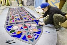 Theatre design stained glass