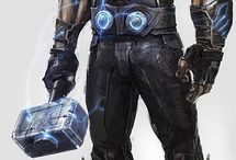 god of thunder / This Thor depiction is beyond amazing,  it catches him in his non-combatative state he looks diesel,  I would absolutely second-guess myself before picking a fight with this dude.  He is super husky and don't let him get energized because he can devastate anyone who stands against him!