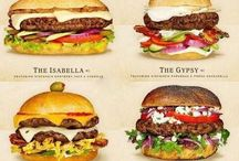 my favorite  foods / Burgers cheeseburger and sandwiches