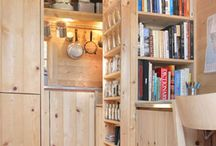 Tiny House Interiors / Tiny houses come in several shapes and sizes.  Here's a look inside the beautiful designs of the tiny home.