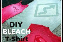 Bleach and Tie Dye Shirts