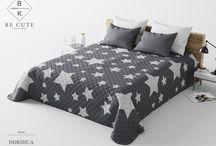Francúzske prehozy na posteľ s potlačou