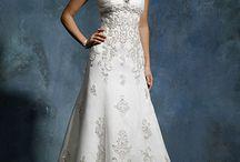 Svatební šaty - užší sukně