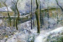 Art:   Winter scenes.