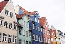 Colorful houses Copenhagen