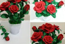 Eva kağıttan güllerim çiçeklerim / Eva kağıttan güllerim çiçeklerim