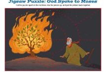 Moses and the Burning Bush Bible Activities / God spoke to Moses from a burning bush and told him to go to Pharaoh and tell him to release the Hebrew slaves. These Bible activities for children are about that important Old Testament event and will help kids understand that God is a God who reveals Himself and still speaks to us today.