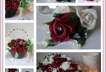 Burgundy Themed Wedding / We create unique, one off wedding bouquet designs for UK brides from stunning artificial flowers, here are a selection of our bridal flower designs as well as wonderful wedding themed ideas to compliment burgundy colourscheme. You can visit our website to view our latest designs www.thebridesbouquet.co.uk - we also offer a bespoke service allowing you to work with us to create your own stunning collection