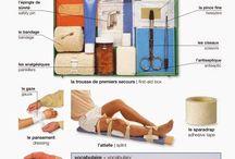 Vive le français - le corps, la santé, la maladie / expressions relatives à la santé et à la maladie, lexique et exercices