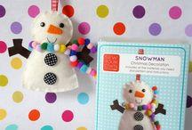 Snowman, snowflake / by Edina Zoltai