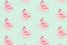 flamingos pattern
