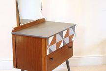 mid century dressing table