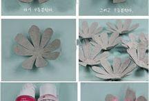 fleurs avec boites oeufs