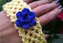balacas tejidas y coletas a crochet