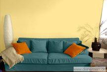 Farbgestaltung - Wohnzimmer / Wie wirkt sich die Farbgestaltung im Wohnzimmer aus.