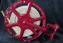 Vintage Fire Hose Reels