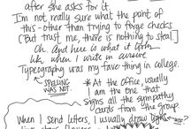 Handwriting Samples / ...and handwritten samples. / by Laura ...