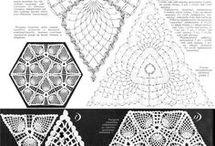 Apliques triángulo Crochet