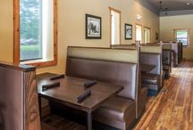 Spirit Lake Steakhouse / Heritage construction updated an old building in Waukhon Minnesota into the best steakhouse on Lake Mille Lacs. Our portion included refinishing existing wood floors, new luxury vinyl planks, and ceramic tile.