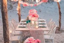 Outdoor picnic place settings