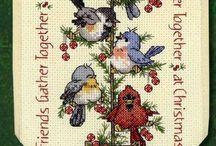 Haft krzyzykowy Boże Narodzenie