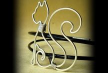 Wire art  cat     猫