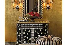All In The Details II: Interiors / Ball Gown Curtains, Gilding, Contrasts, Buttons and Bows, Oh My! / by Karen McCreary