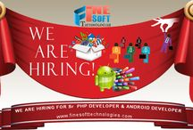 We are hiring for Sr PHP Developer & Android Developer / We are hiring for Sr PHP Developer & Android Developer with 1yrs exp in . If you are looking for a challenging Job. apply online :http://www.finesofttechnologies.com/ #likes