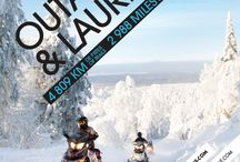 Motoneige | Snowmobiling / En Outaouais, plus de 2 000 km de sentiers vous attendent! In the Outaouais region, more than 2,000 km of trails await you! Info: www.motoneigeoutaouais.com  / by Tourisme Outaouais