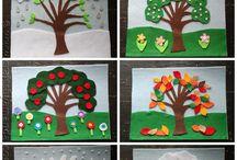 four seasons - weather art