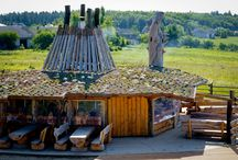 Chata grillowa // Grill Hut / Drewniana Chata Grillowa to idealne miejsce na eventy i spotkania plenerowe. // A wooden Grill Hut is a perfect place for events and open air meetings