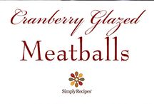 Tender turkey meatballs, browned and glazed with a sauce of cranberries, ginger, and orange. / Receta