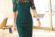 embroidery deep green dress