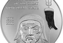 Monedas de plata Mongolia