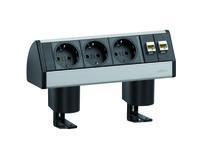 Electrificatie / Op iedere werkplek zijn stroom en veelal andere denkbare aansluitingen noodzakelijk. Ons assortiment electrificatie is onder te verdelen in opbouw-, inbouw- en onderbouw modules.Deze modules, voorzien van stroom aangevuld met bijv. data, VGA, USB, audio, HDMI, DVI en meer zorgen voor een optimaal gebruiksgemak op de werkplek.