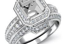 Asscher Shape Diamond Engagement Rings / Javda All Asscher Engagement Ring