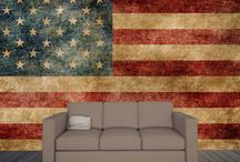 Wall Mural Flags / Flags of our favorite country turned into wall murals