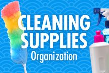 Cleaning Tips / Simplify your cleaning routine, with Alejandra Costello's cleaning supplies organization tips, best products, ideas, and videos. Her creative organizing solutions are so easy, quick, and simple, you don't even have to be a clean freak to appreciate them! / by Alejandra Costello | Home Organizing Tips, Ideas, Videos, & Best Products