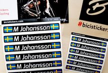 Cycling stickers with custom name and flag for your bicycle / We produce wide range of custom name stickers with country flag. The decals can be personalized with name and flag of your country or logo of your cycling club.