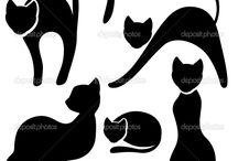 Πίνακες με μαύρες γάτες και άλλα ζώα