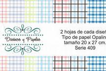 DISEÑOS Y PAPELES® / En este tablero encontrarás los kits de papeles que tenemos para envío desde México