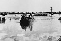1940's,1950,1951,  1954 and 1955 Flood Photos