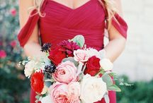 Beautiful Bridesmaid Looks by Color / David's Bridal & The Perfect Palette have teamed up to provide plenty of pretty inspiration for your bridesmaids' looks, from the bridesmaid dresses and accessories to flowers and more.  / by David's Bridal