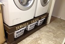 washer and dryer stands / by Cindy Gorman