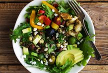 Salad! / Yum, I love salad!! Lots of creative ideas for making yummy ones