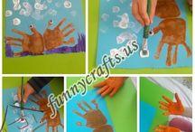 Handprint crab art activity
