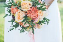 Bouquet coloré mariee