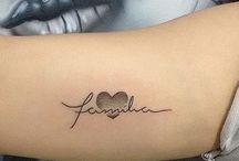 tatoo feminina escrita