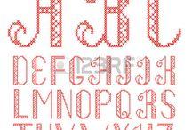 alfabet kruissteek