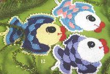 Crocheted dish cloth